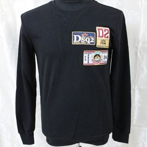 DSQAURED2 Black Casual Sweatshirt